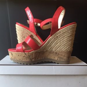 pink Guess wedges